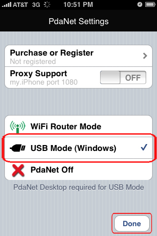 Use Your iPhone 3G as a Modem – Using the USB Cable